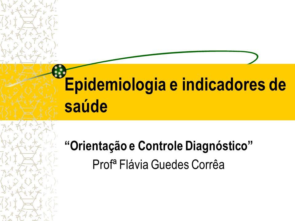 Epidemiologia e indicadores de saúde