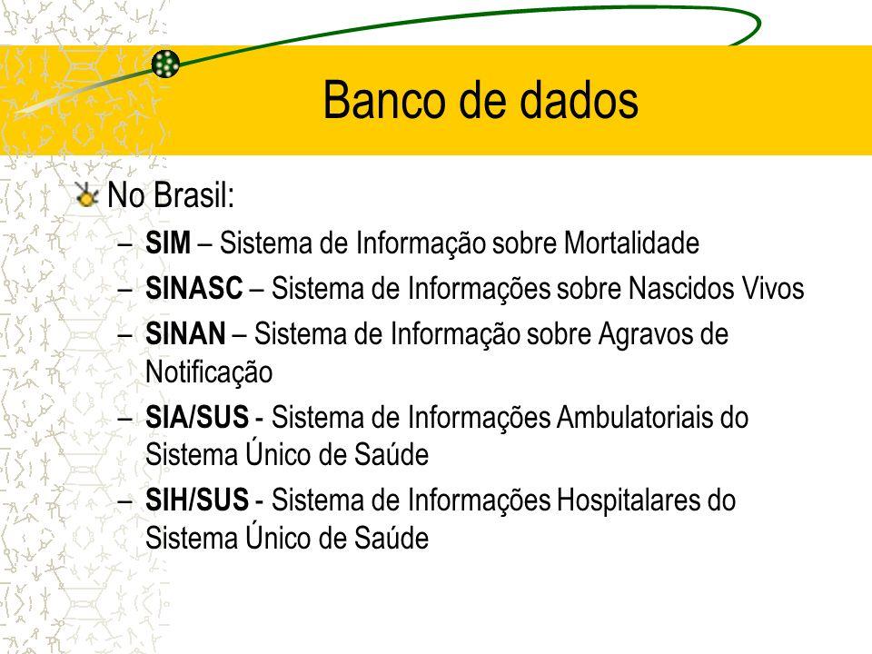 Banco de dados No Brasil: