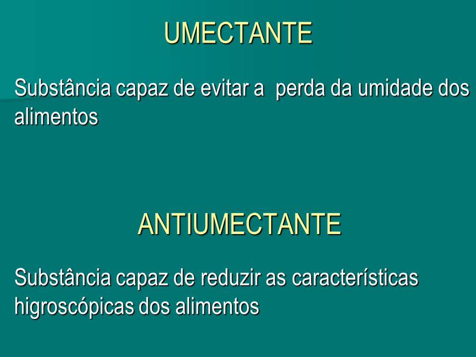 UMECTANTE ANTIUMECTANTE