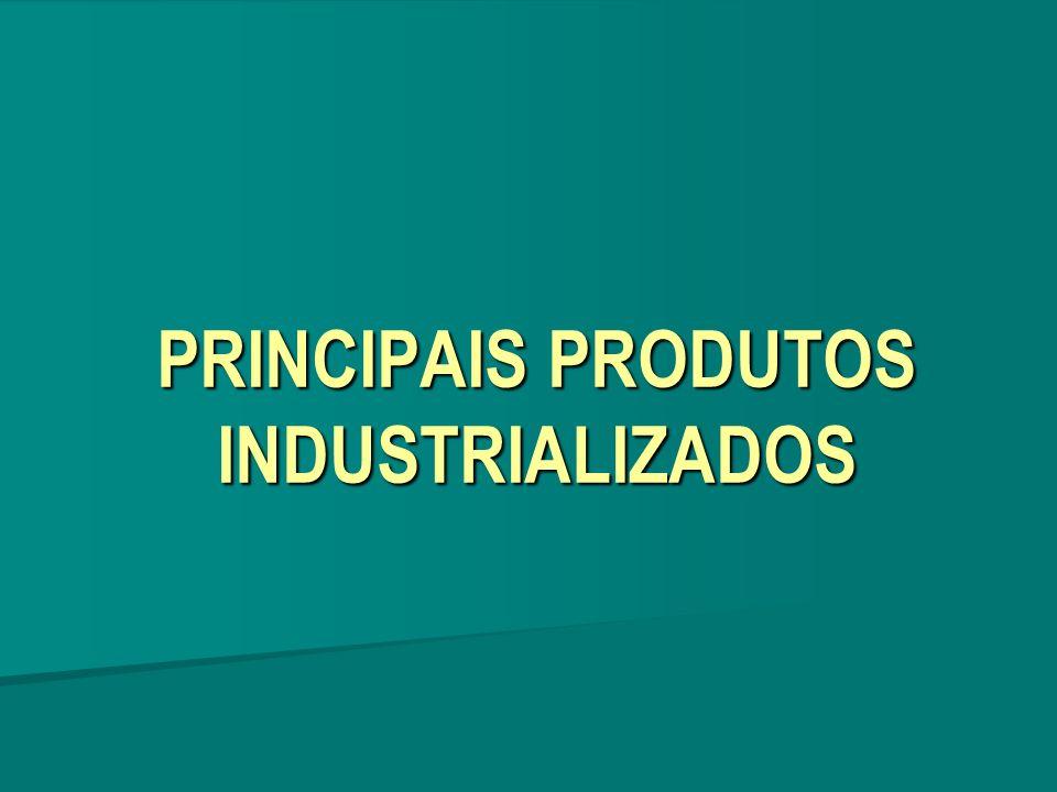 PRINCIPAIS PRODUTOS INDUSTRIALIZADOS