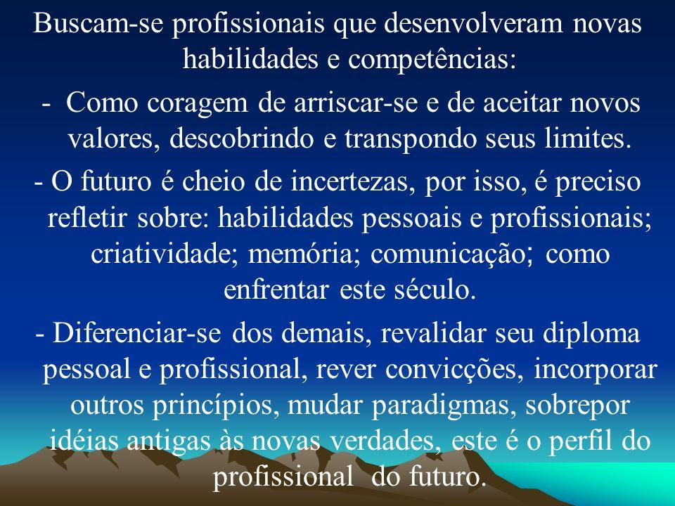 Buscam-se profissionais que desenvolveram novas habilidades e competências: