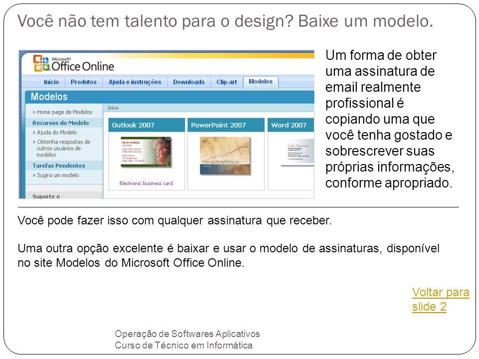 Você não tem talento para o design Baixe um modelo.