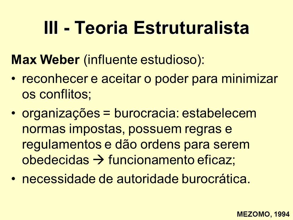 III - Teoria Estruturalista