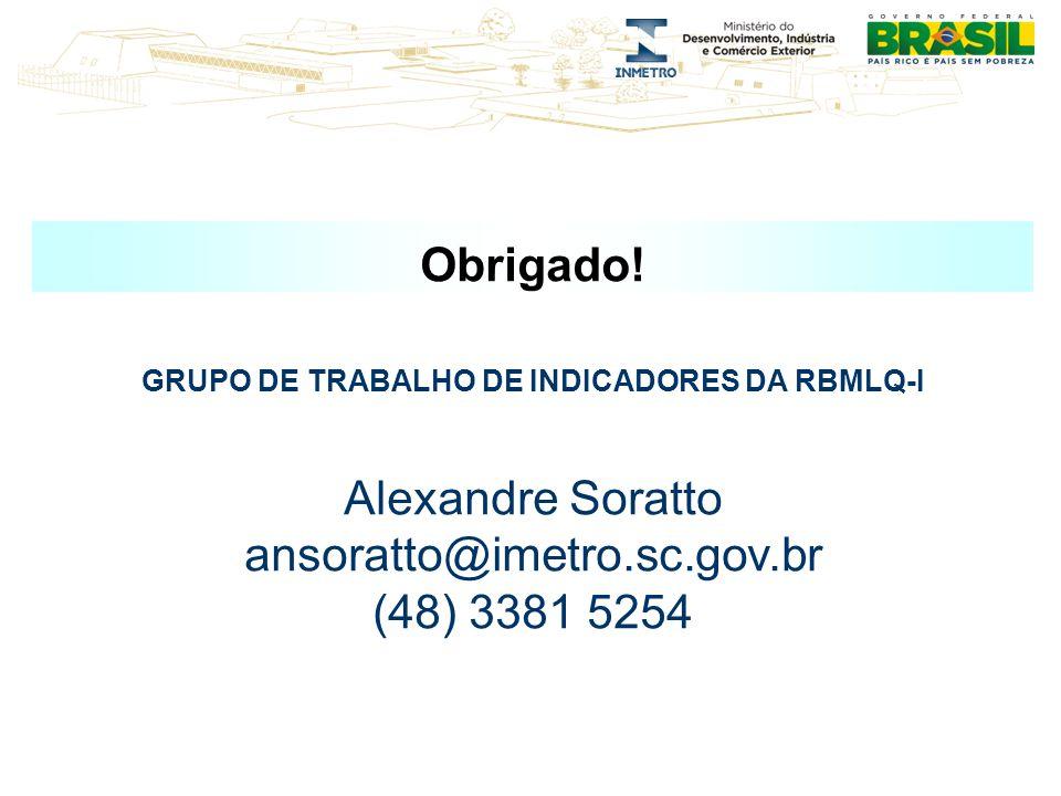 GRUPO DE TRABALHO DE INDICADORES DA RBMLQ-I