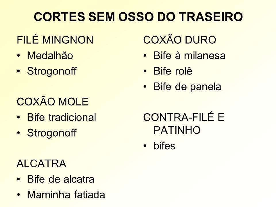 CORTES SEM OSSO DO TRASEIRO