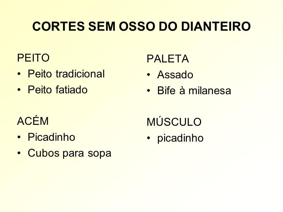 CORTES SEM OSSO DO DIANTEIRO