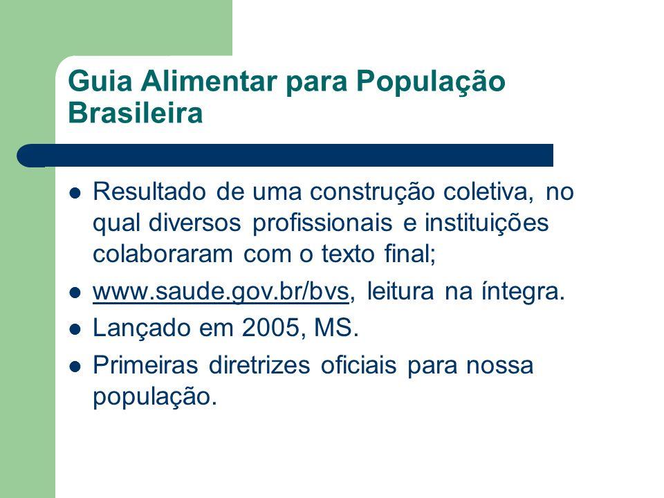 Guia Alimentar para População Brasileira