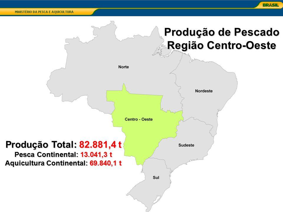Aquicultura Continental: 69.840,1 t