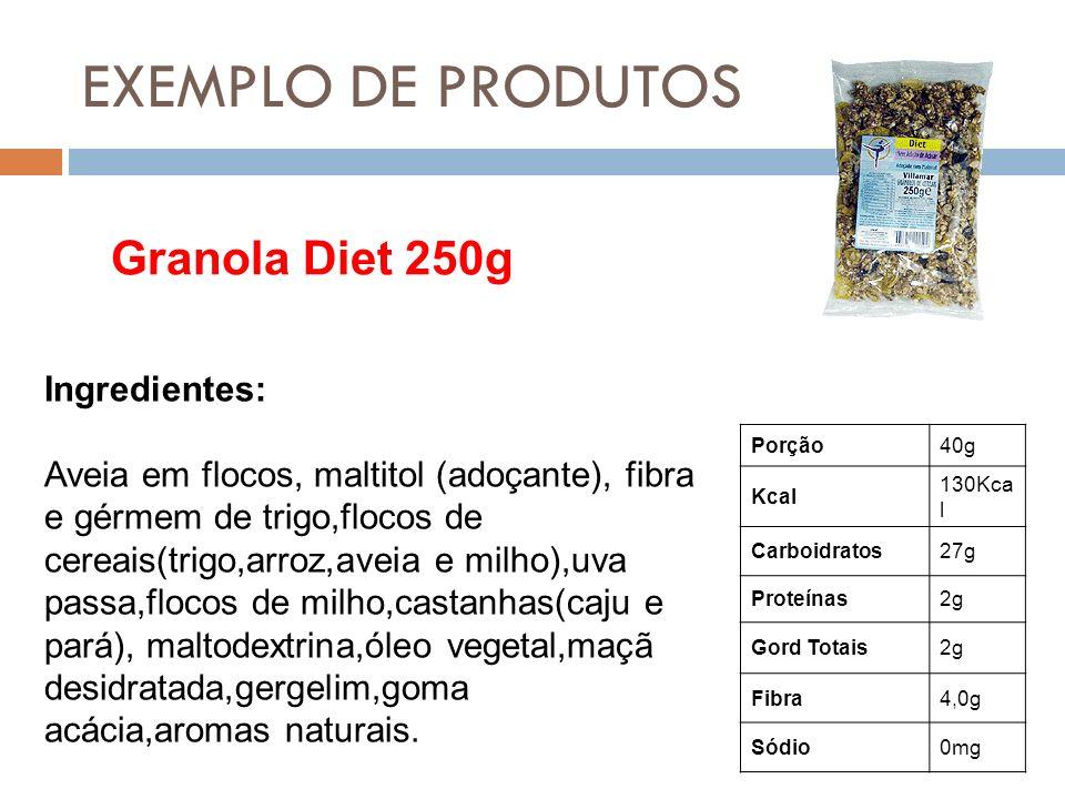EXEMPLO DE PRODUTOS Granola Diet 250g