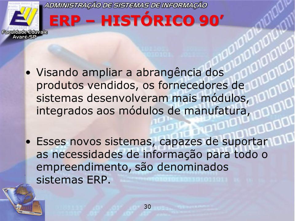 ERP – HISTÓRICO 90'
