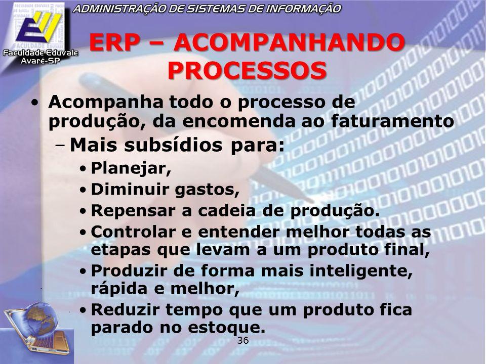 ERP – ACOMPANHANDO PROCESSOS