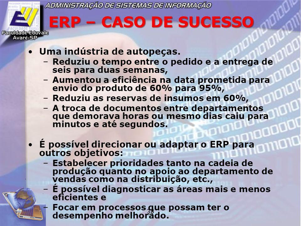 ERP – CASO DE SUCESSO Uma indústria de autopeças.