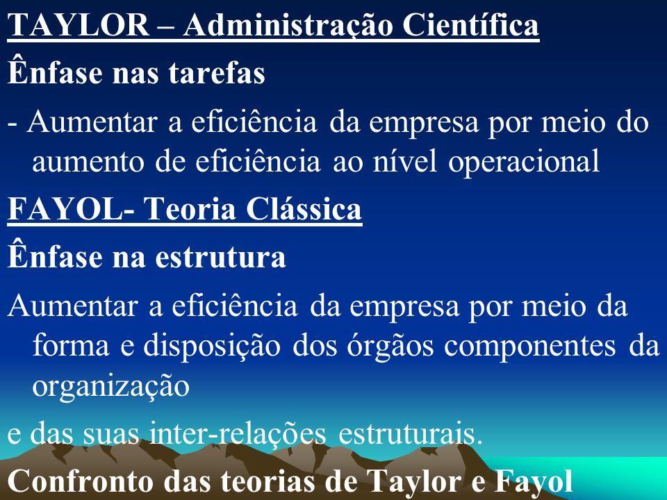 TAYLOR – Administração Científica