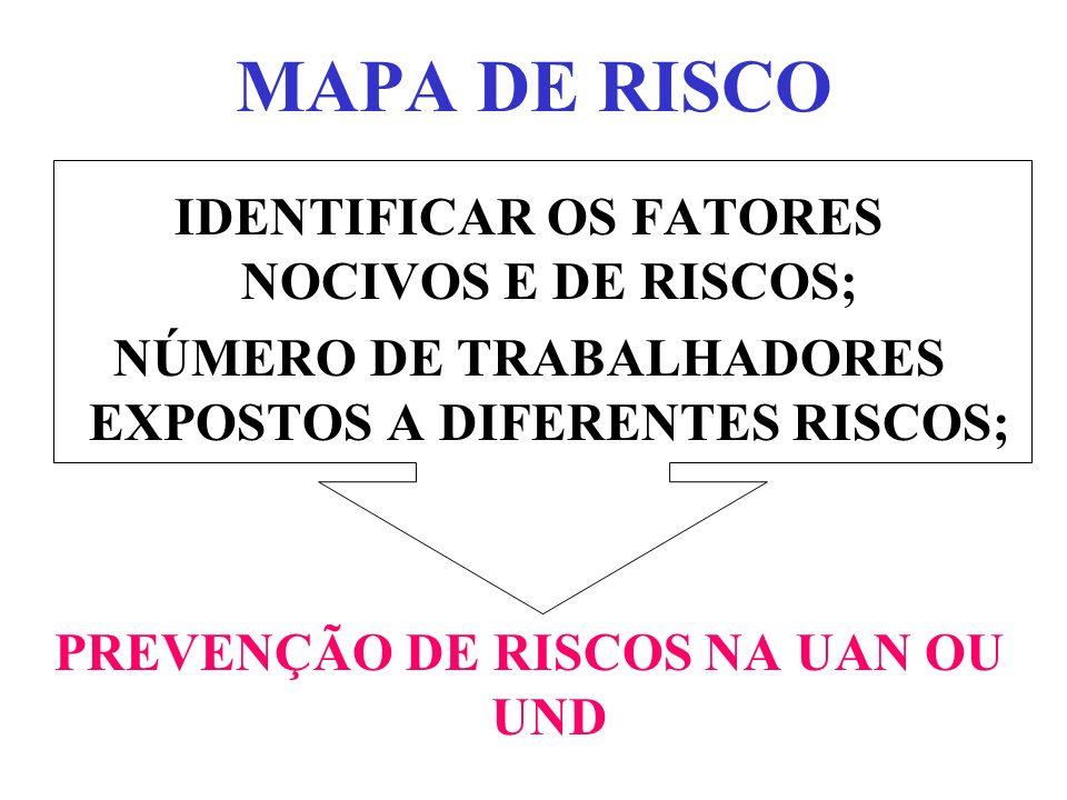 MAPA DE RISCO IDENTIFICAR OS FATORES NOCIVOS E DE RISCOS;