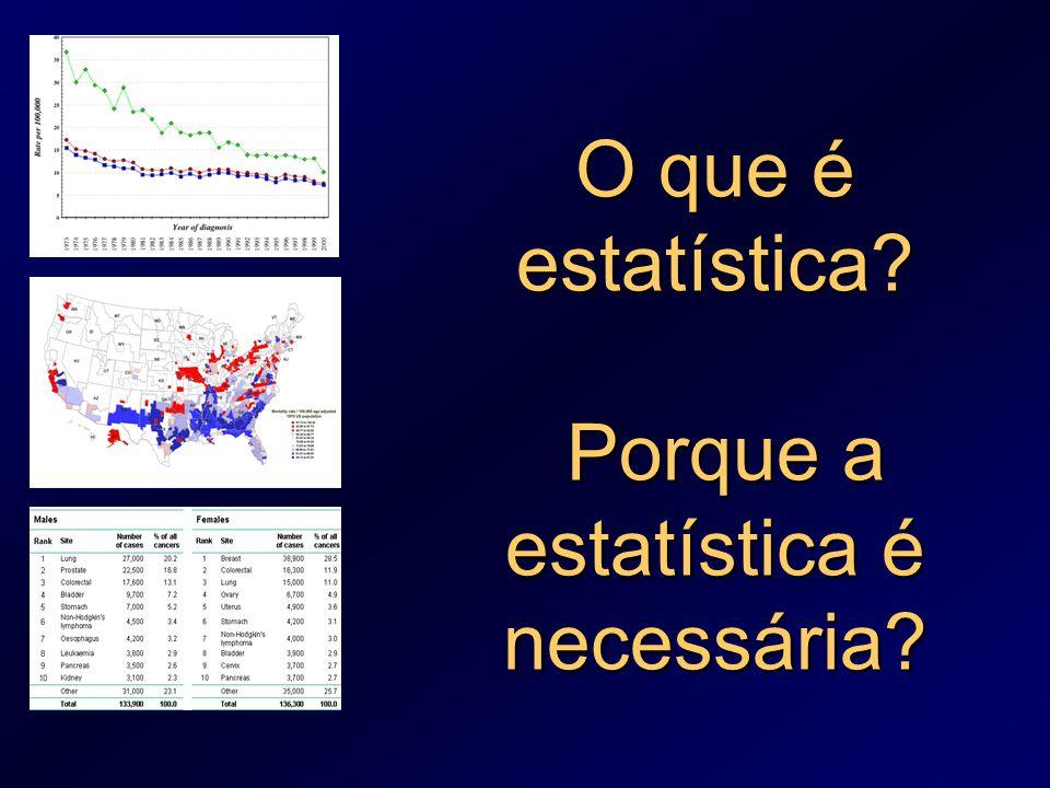 O que é estatística Porque a estatística é necessária