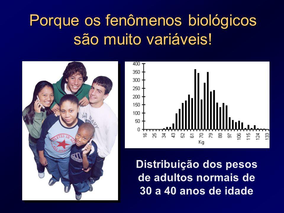Porque os fenômenos biológicos são muito variáveis!