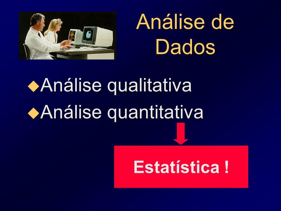 Análise de Dados Análise qualitativa Análise quantitativa