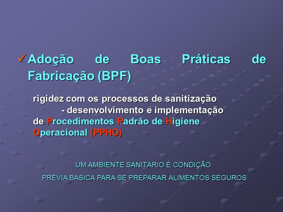 Adoção de Boas Práticas de Fabricação (BPF)