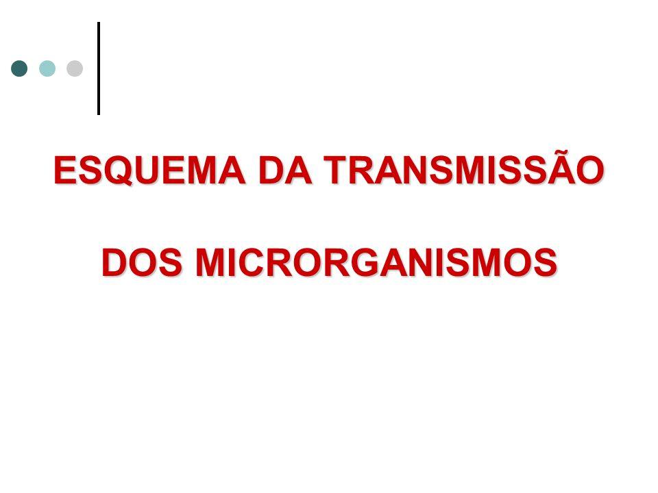 ESQUEMA DA TRANSMISSÃO DOS MICRORGANISMOS