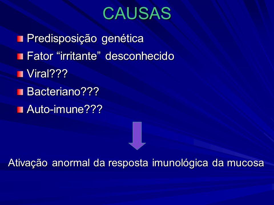 Ativação anormal da resposta imunológica da mucosa