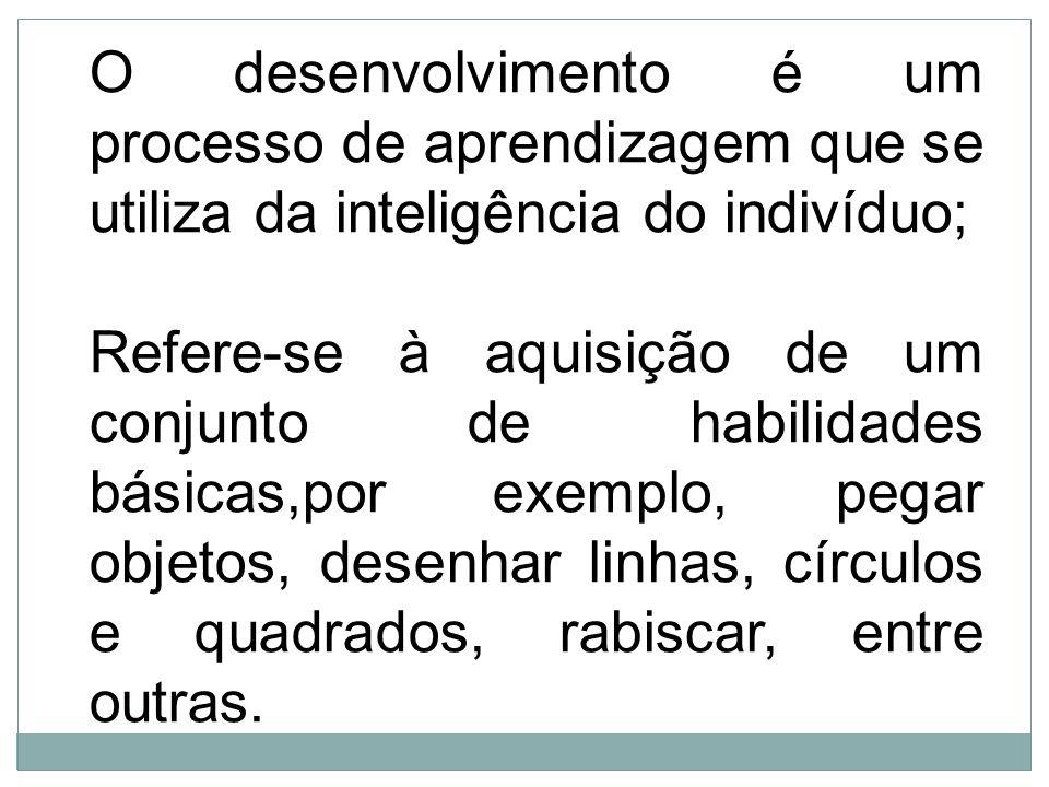 O desenvolvimento é um processo de aprendizagem que se utiliza da inteligência do indivíduo;