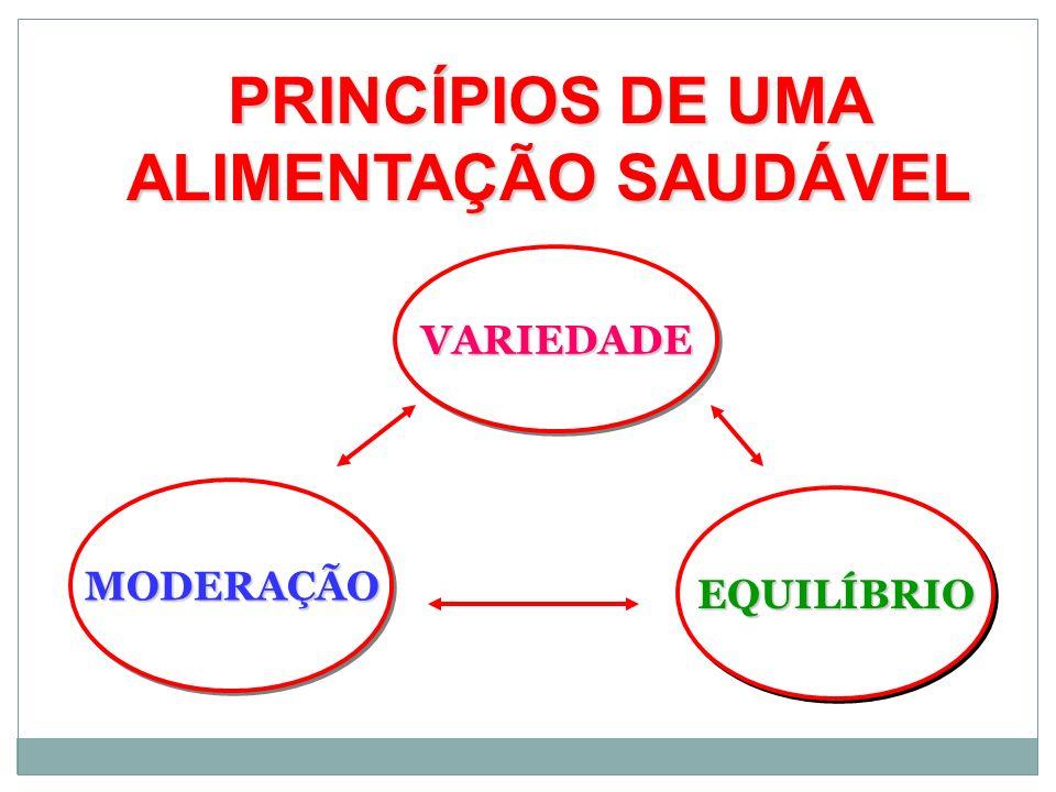PRINCÍPIOS DE UMA ALIMENTAÇÃO SAUDÁVEL