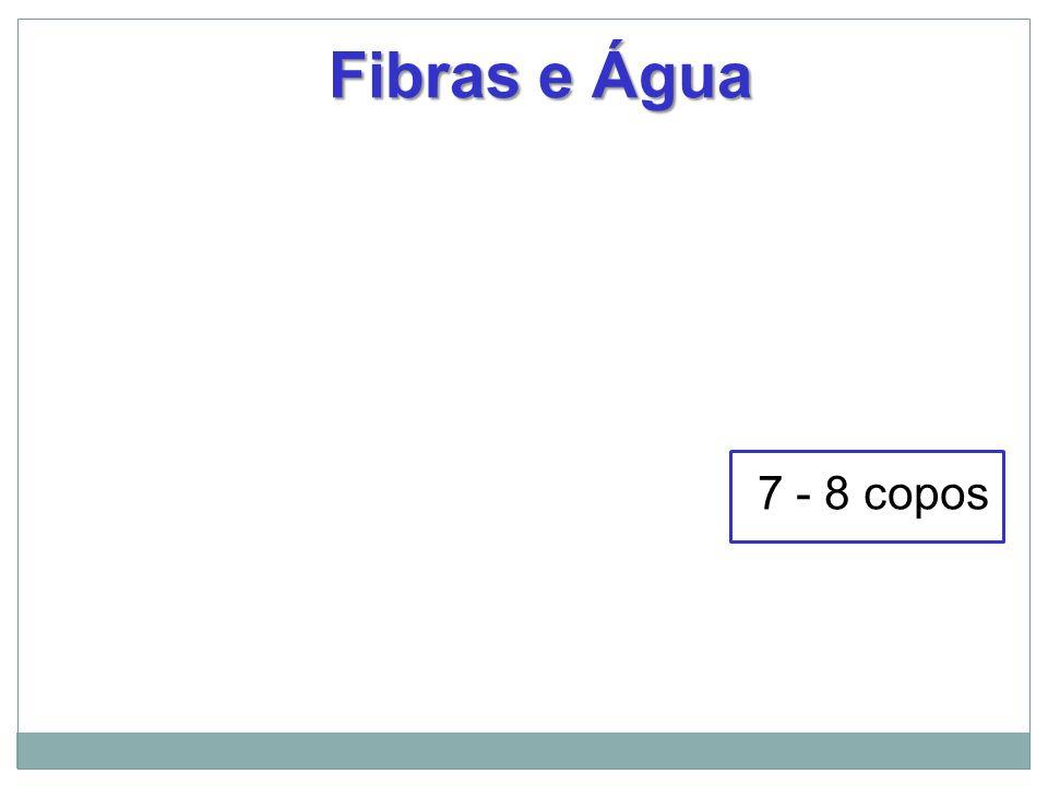Fibras e Água 7 - 8 copos