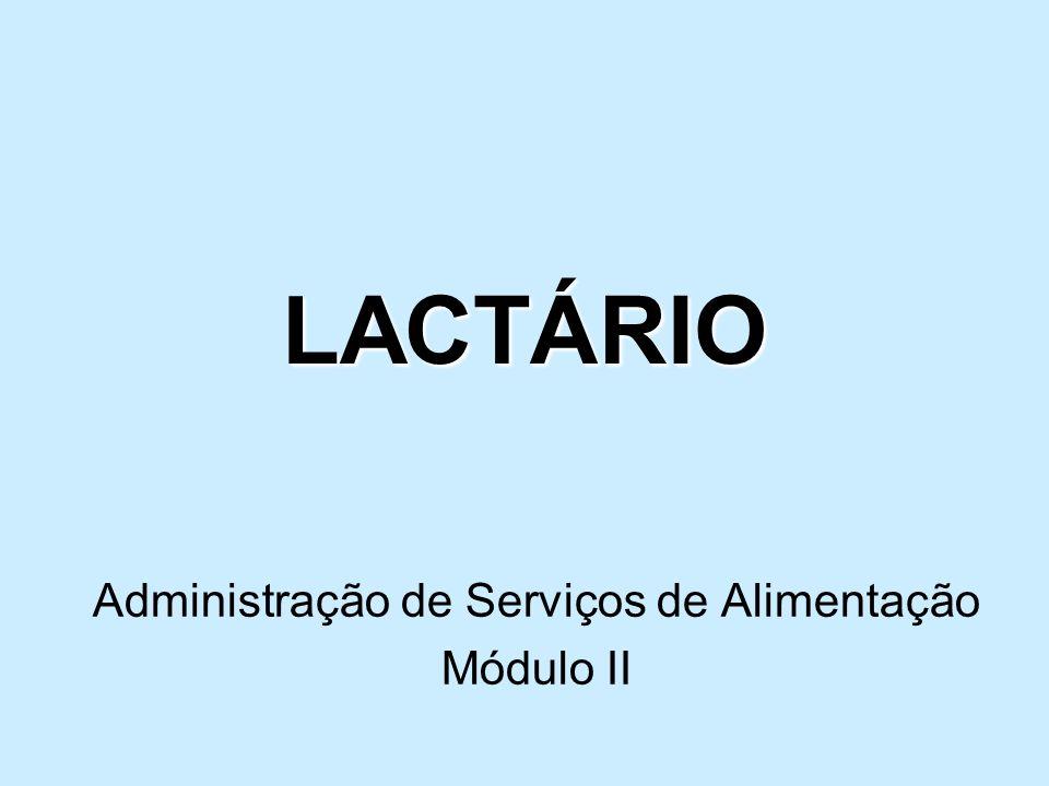 Administração de Serviços de Alimentação Módulo II