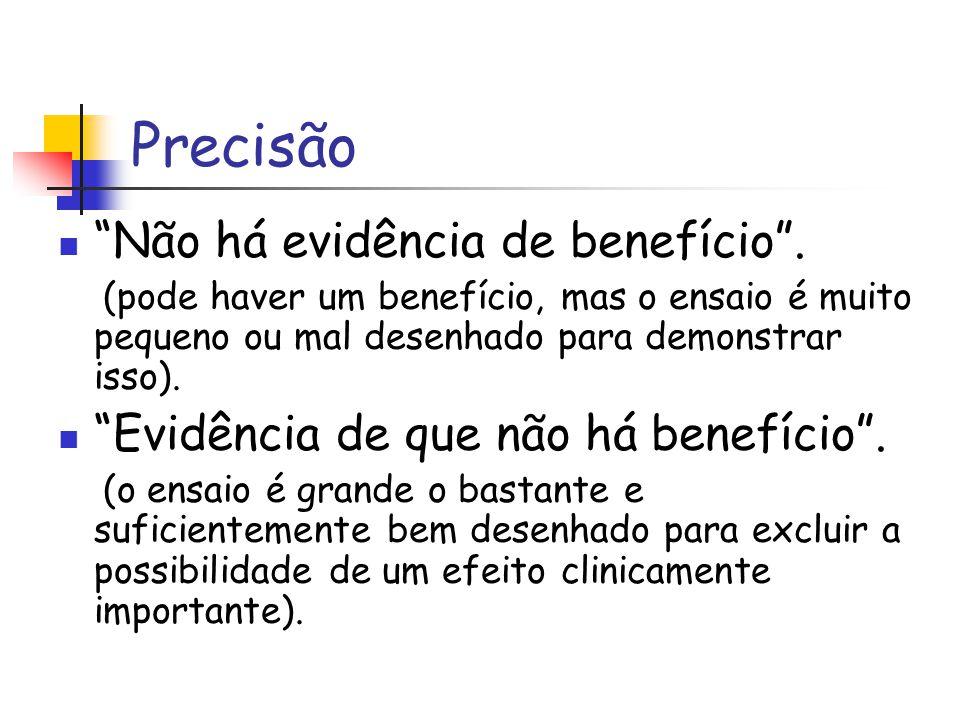 Precisão Não há evidência de benefício .