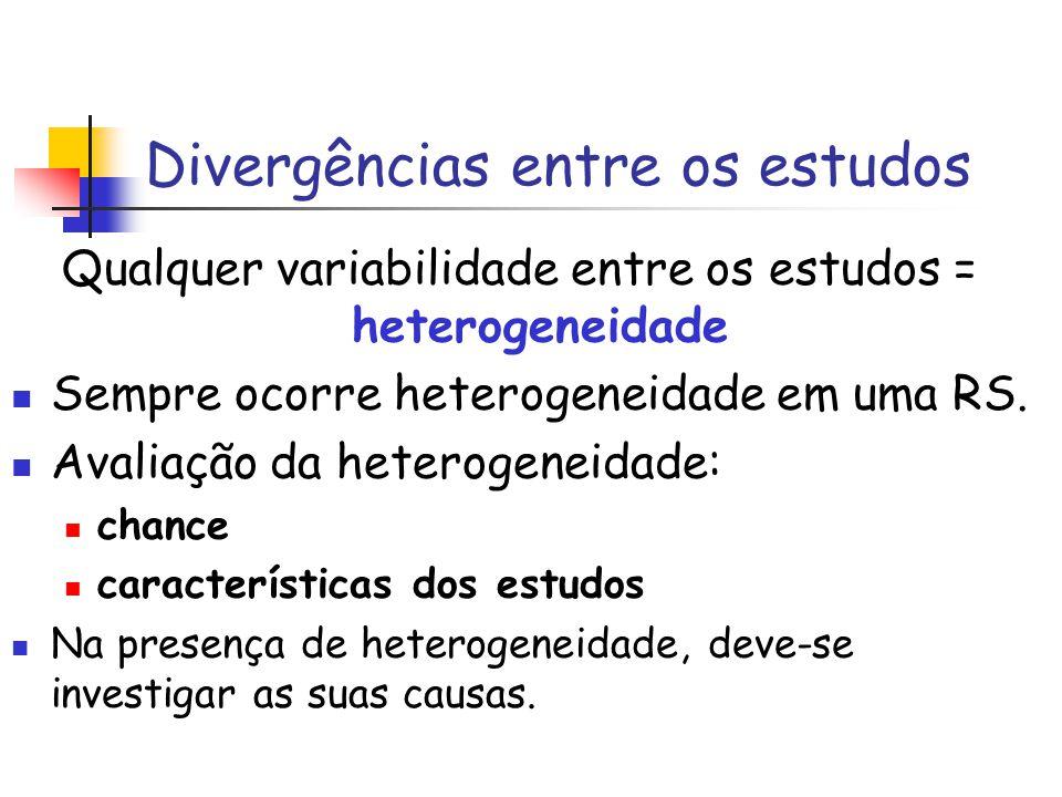 Divergências entre os estudos