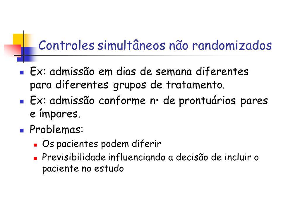 Controles simultâneos não randomizados