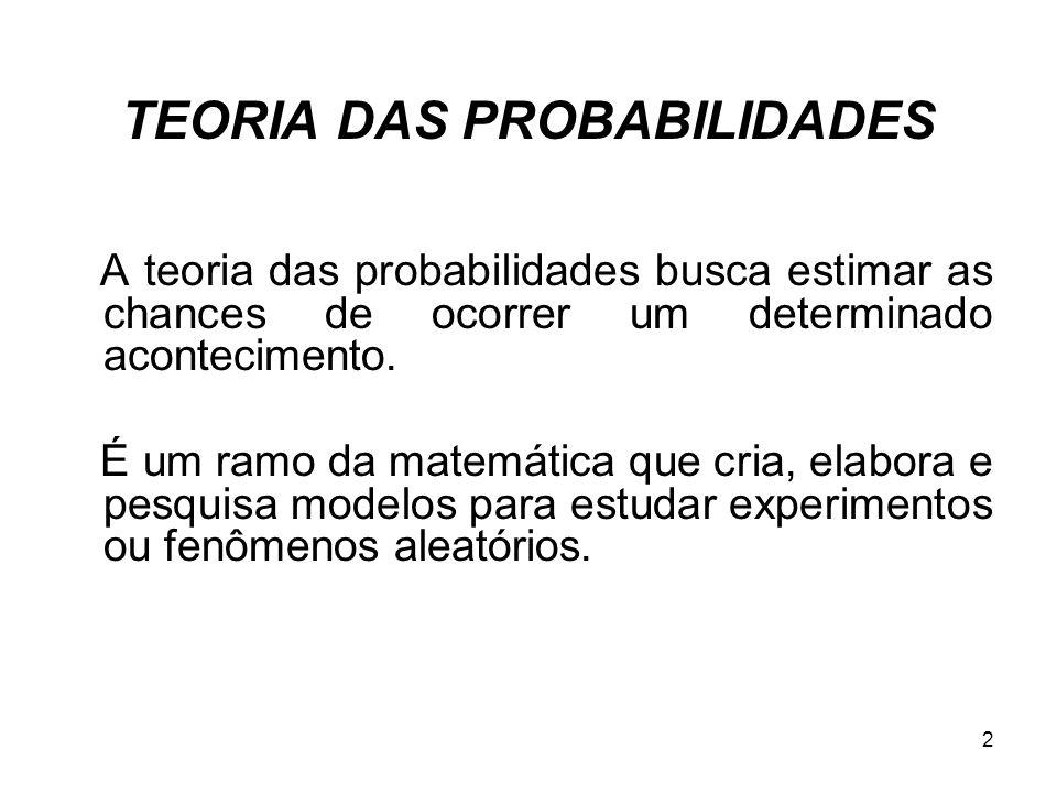 TEORIA DAS PROBABILIDADES