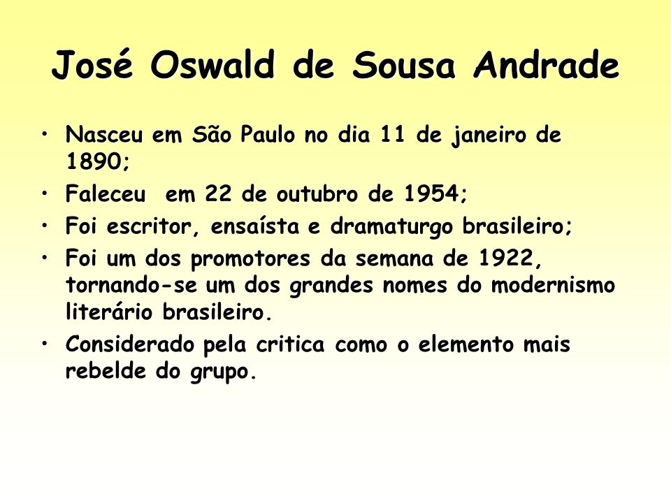 José Oswald de Sousa Andrade