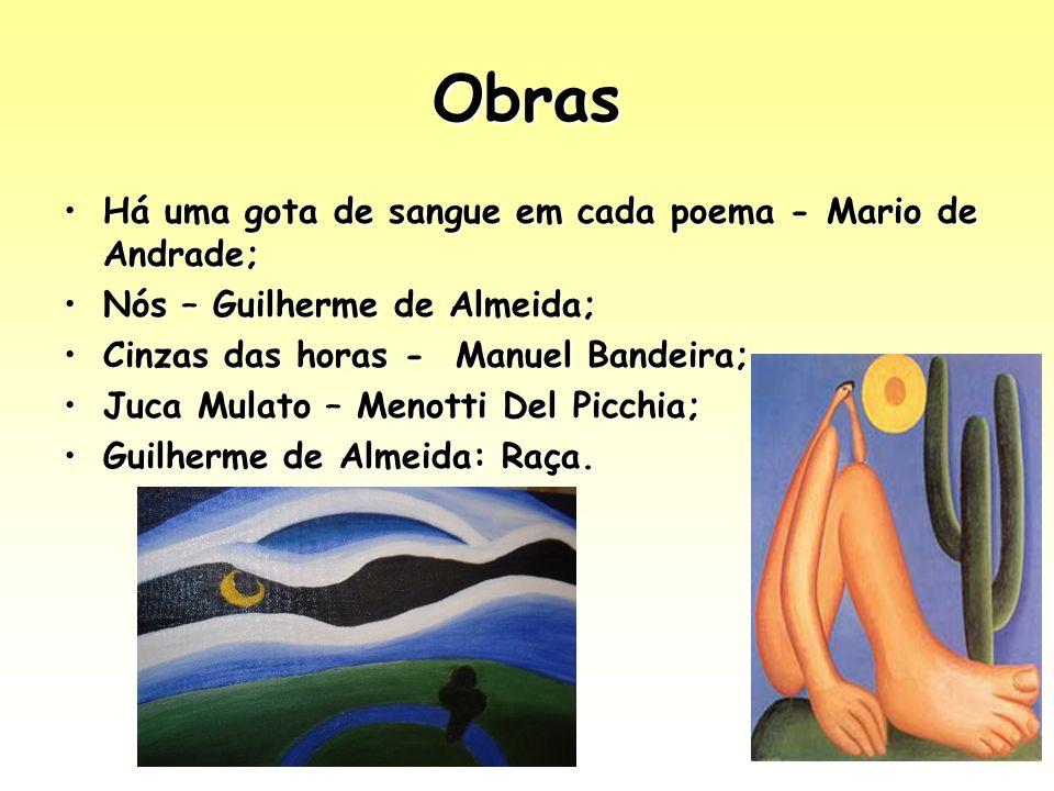 Obras Há uma gota de sangue em cada poema - Mario de Andrade;