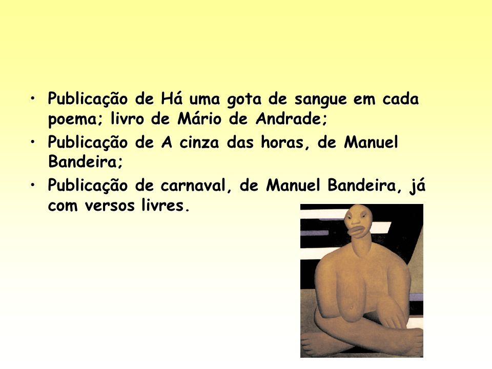 Publicação de Há uma gota de sangue em cada poema; livro de Mário de Andrade;