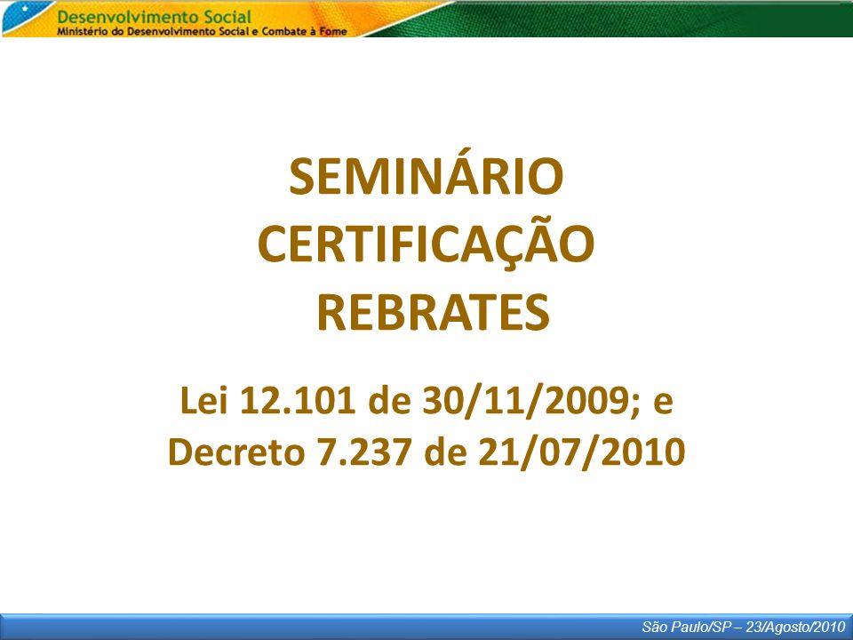 SEMINÁRIO CERTIFICAÇÃO REBRATES