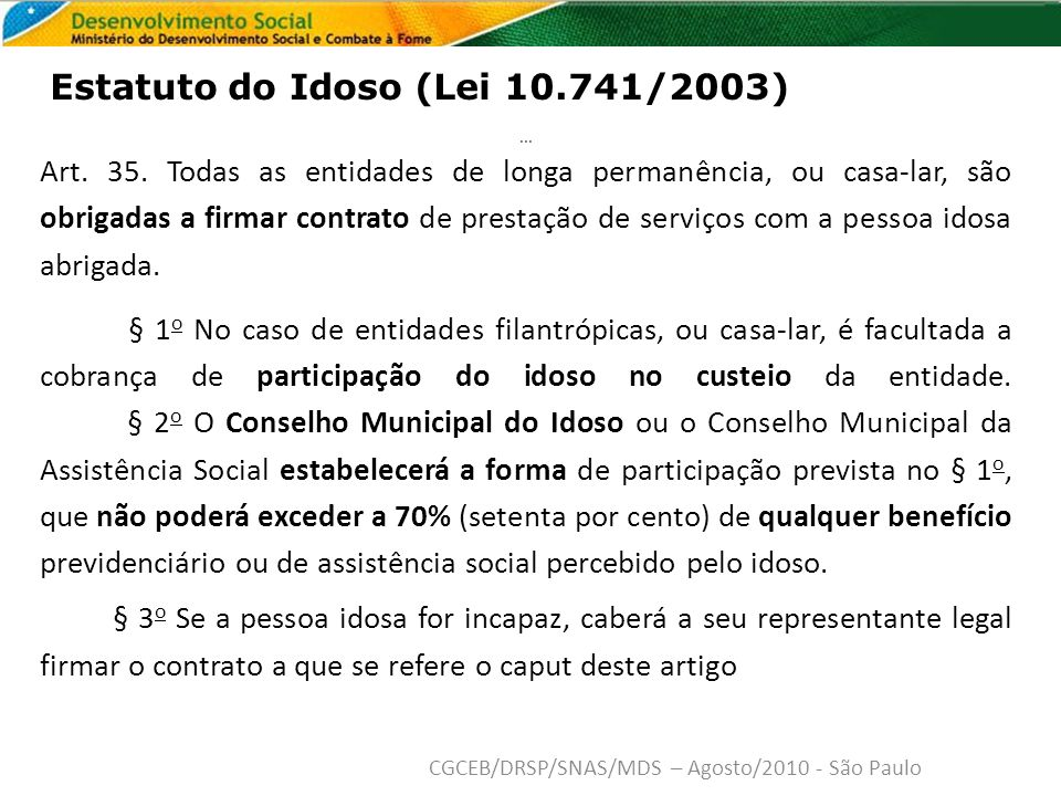 Estatuto do Idoso (Lei 10.741/2003)