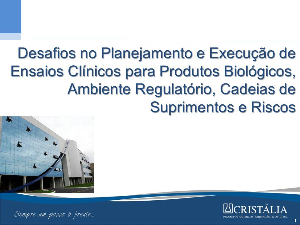 Desafios no Planejamento e Execução de Ensaios Clínicos para Produtos Biológicos, Ambiente Regulatório, Cadeias de Suprimentos e Riscos