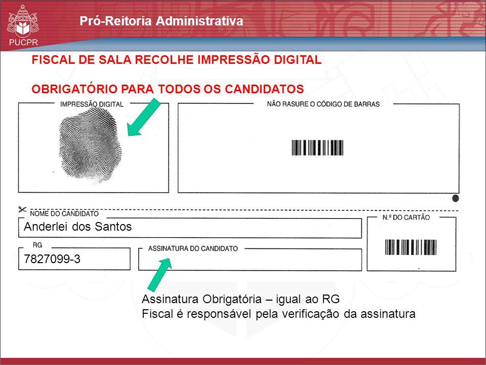 FISCAL DE SALA RECOLHE IMPRESSÃO DIGITAL