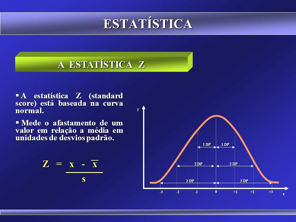 ESTATÍSTICA A ESTATÍSTICA Z Z = x - x s