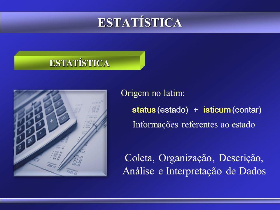 Coleta, Organização, Descrição, Análise e Interpretação de Dados