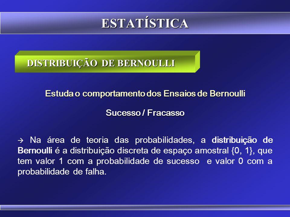 ESTATÍSTICA DISTRIBUIÇÃO DE BERNOULLI