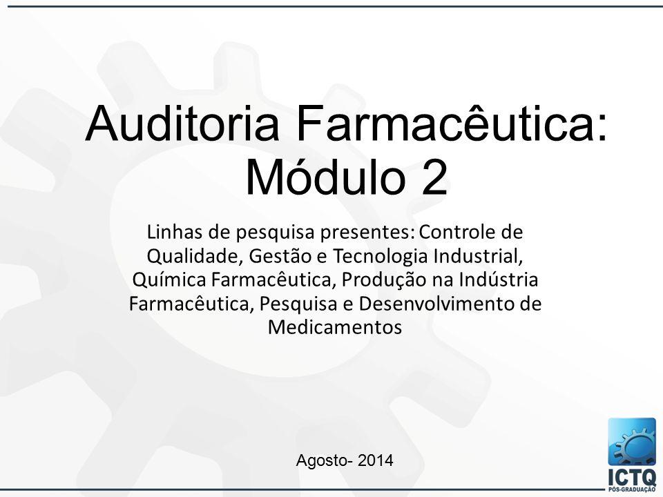 Auditoria Farmacêutica: Módulo 2