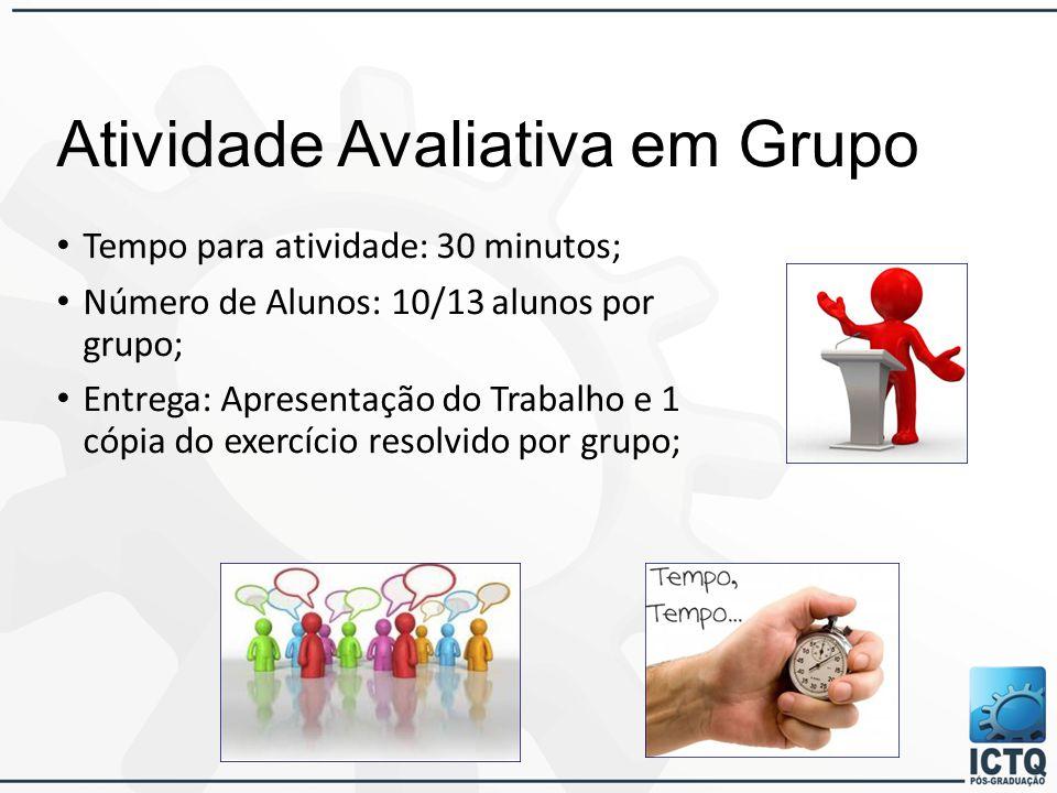 Atividade Avaliativa em Grupo