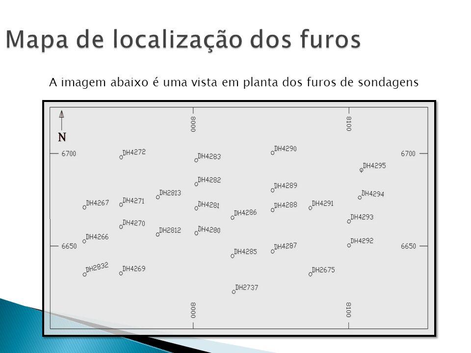 Mapa de localização dos furos