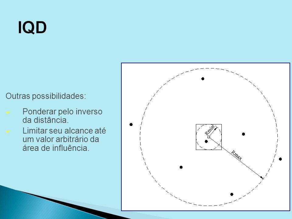 IQD Outras possibilidades: Ponderar pelo inverso da distância.