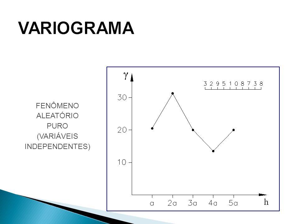 VARIOGRAMA FENÔMENO ALEATÓRIO PURO (VARIÁVEIS INDEPENDENTES)