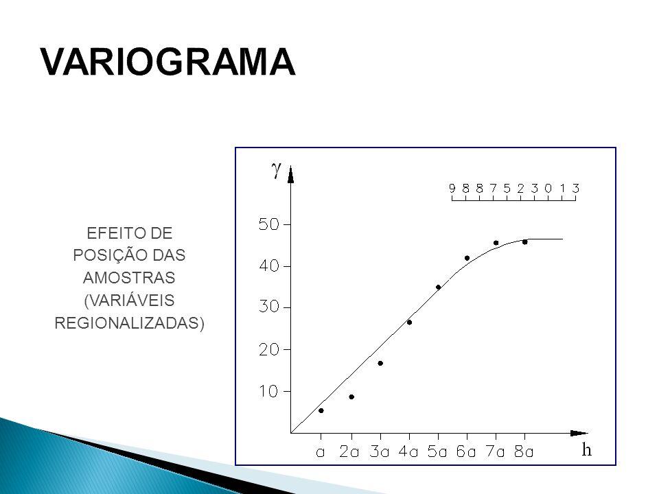 VARIOGRAMA EFEITO DE POSIÇÃO DAS AMOSTRAS (VARIÁVEIS REGIONALIZADAS)
