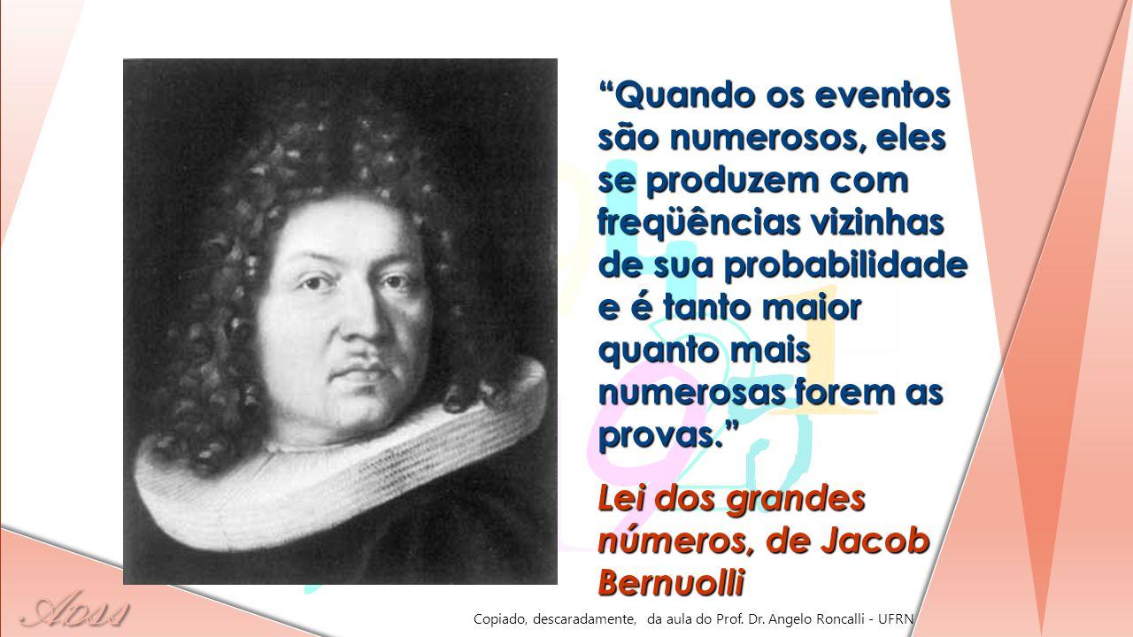 Lei dos grandes números, de Jacob Bernuolli