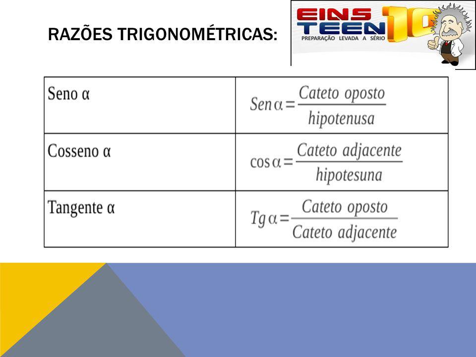 Razões trigonométricas:
